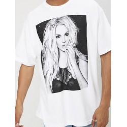 T-shirt noir et blanc «...