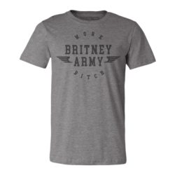 "T-shirt gris ""Britney Army""..."