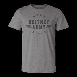 "T-shirt kaki ""Britney Army""..."