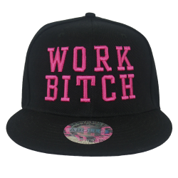 Casquette Work Bitch rose -...
