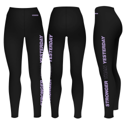 "Legging noir ""Stronger than..."