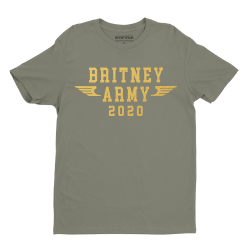"T-shirt kaki ""Britney Army..."