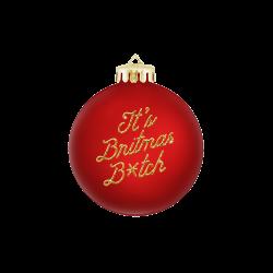 Boule de Noël rouge «It's...