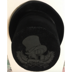 """Circus"" black top hat"