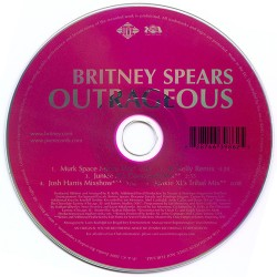 """CD promo """"Outrageous"""" (France)"""